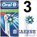 3 Oral-B CrossAction EB50 Aufsteckbürsten