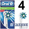 4 Oral-B CrossAction EB50 Aufsteckbürsten