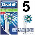 5 Oral-B CrossAction EB50 Aufsteckbürsten