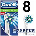 8 Oral-B CrossAction EB50 Aufsteckbürsten